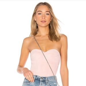 by the way. Pink Velvet Bodysuit